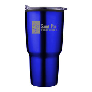 SAINT PAUL - 20 oz. Curved Body Tumbler W/ Lid and Custom Logo Engraved Thumbnail